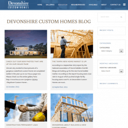 DEVONSHIRE CUSTOM HOMES BLOG