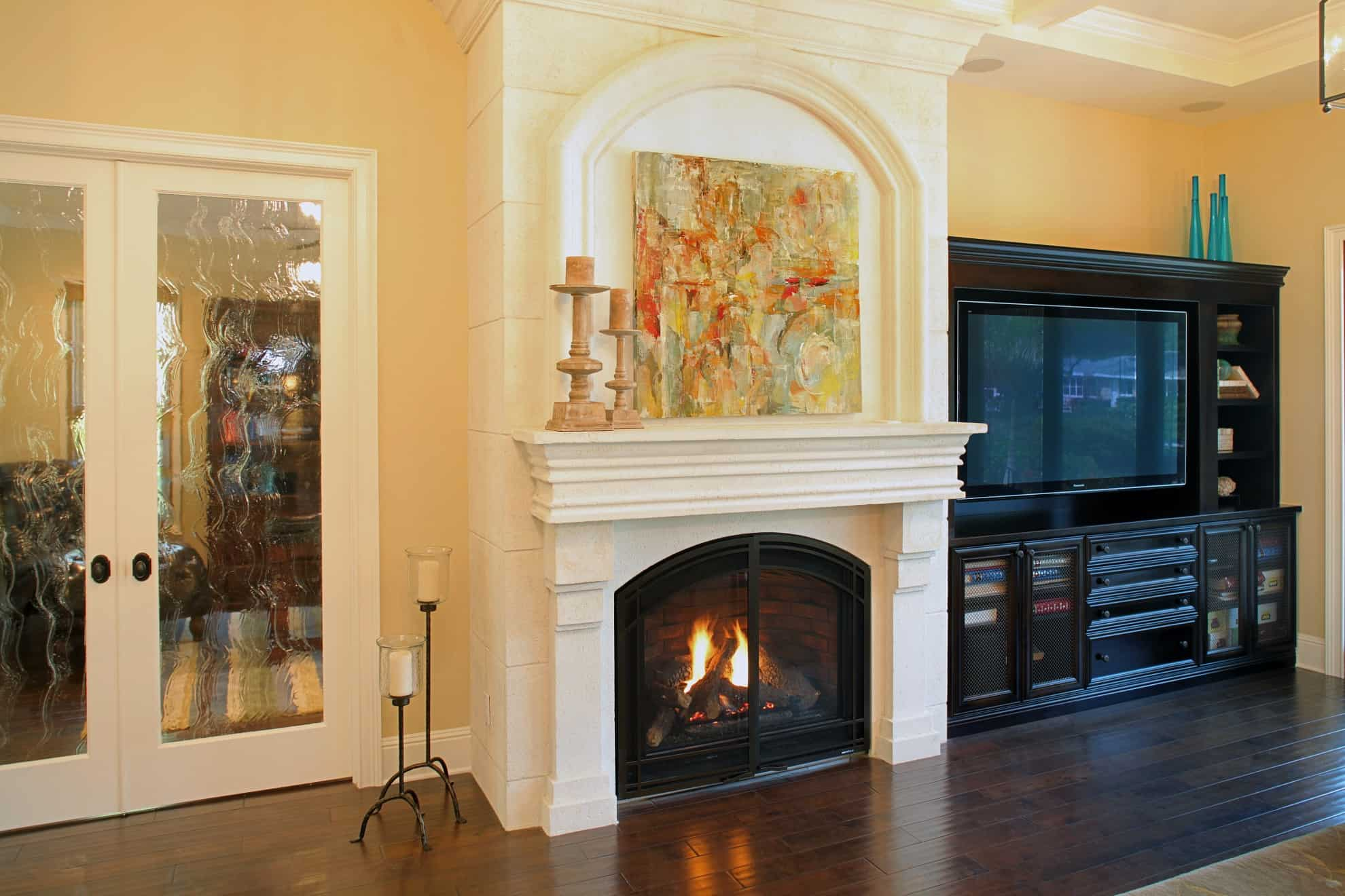 Bayshore Estates Custom Home_Fireplace_