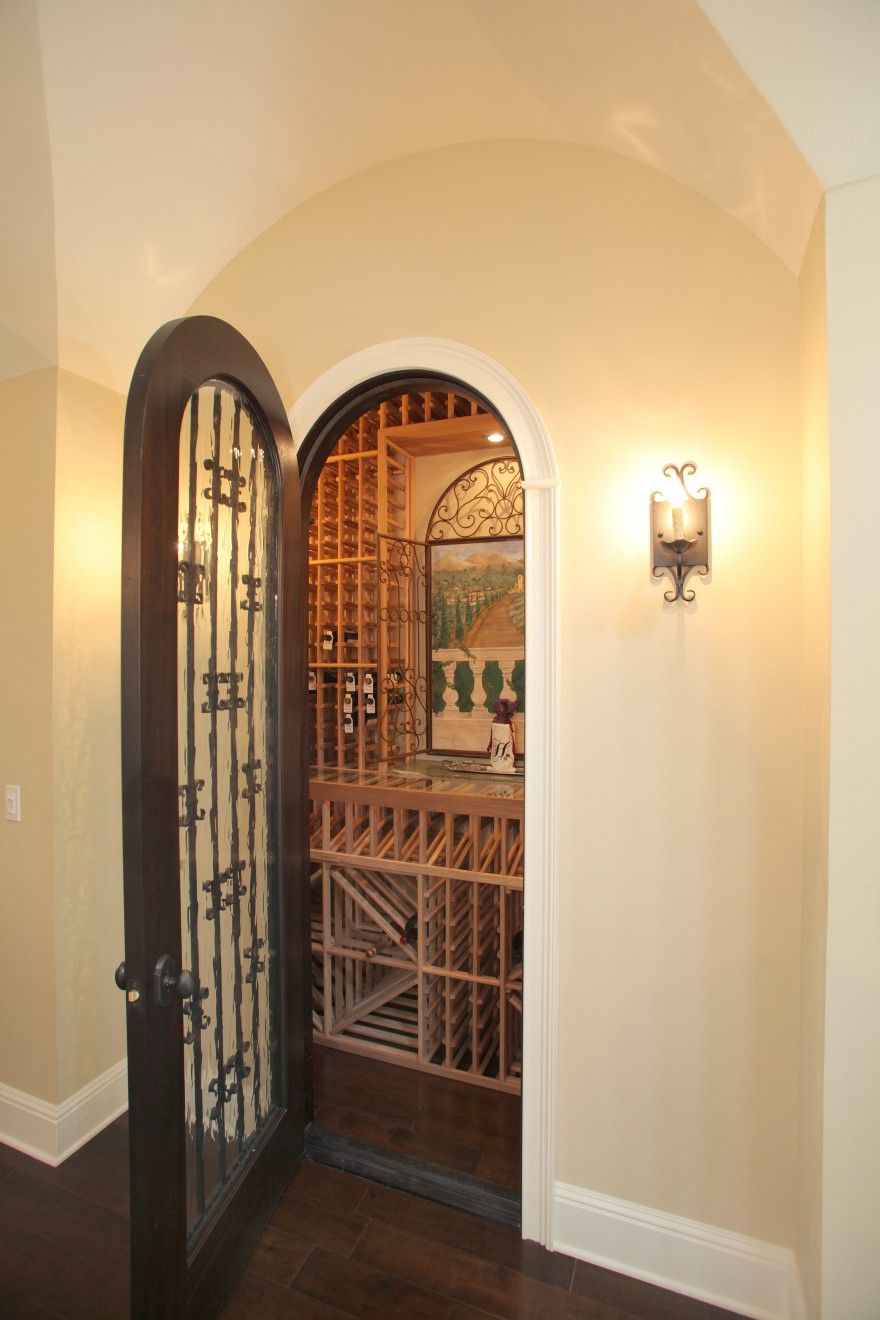 Bayshore Estates Custom Home_Wine Room_