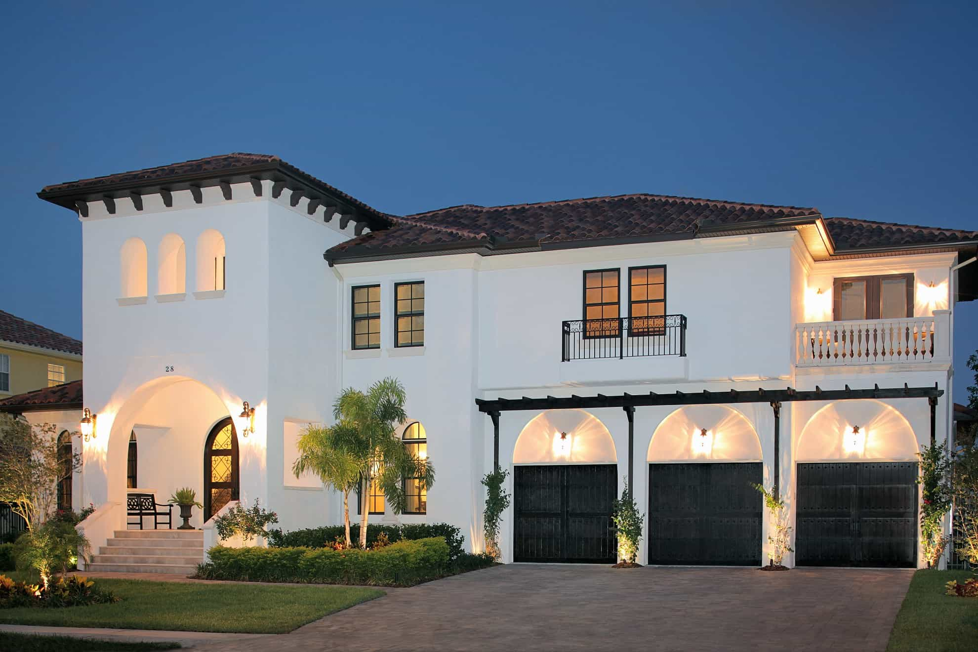 Custom homes gallery luxury estates by devonshire custom for Custom mediterranean homes