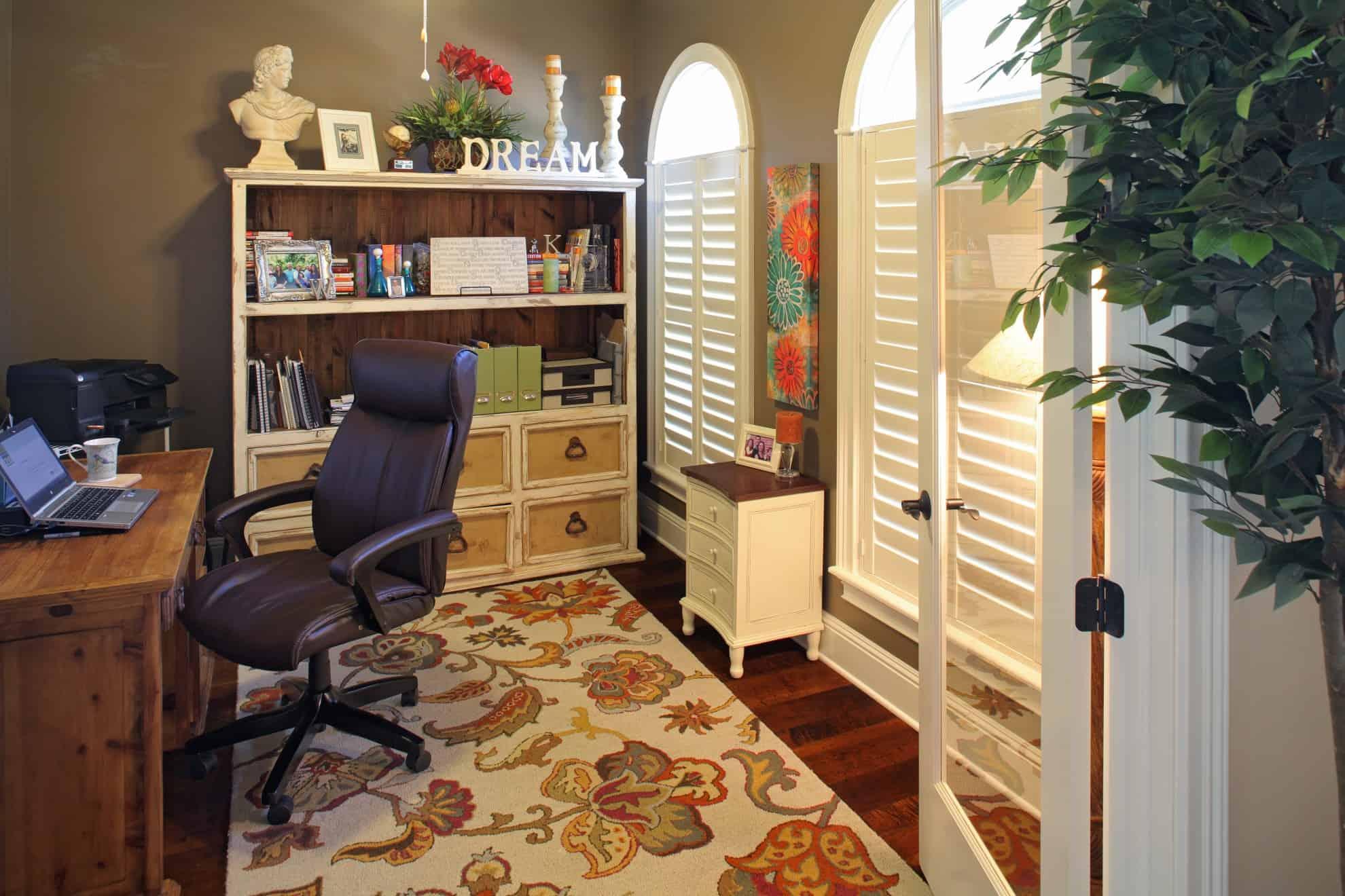Beach Park Custom Home_Home Office_