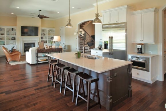 Devonshire Custom Homes - Kitchen & Living Room