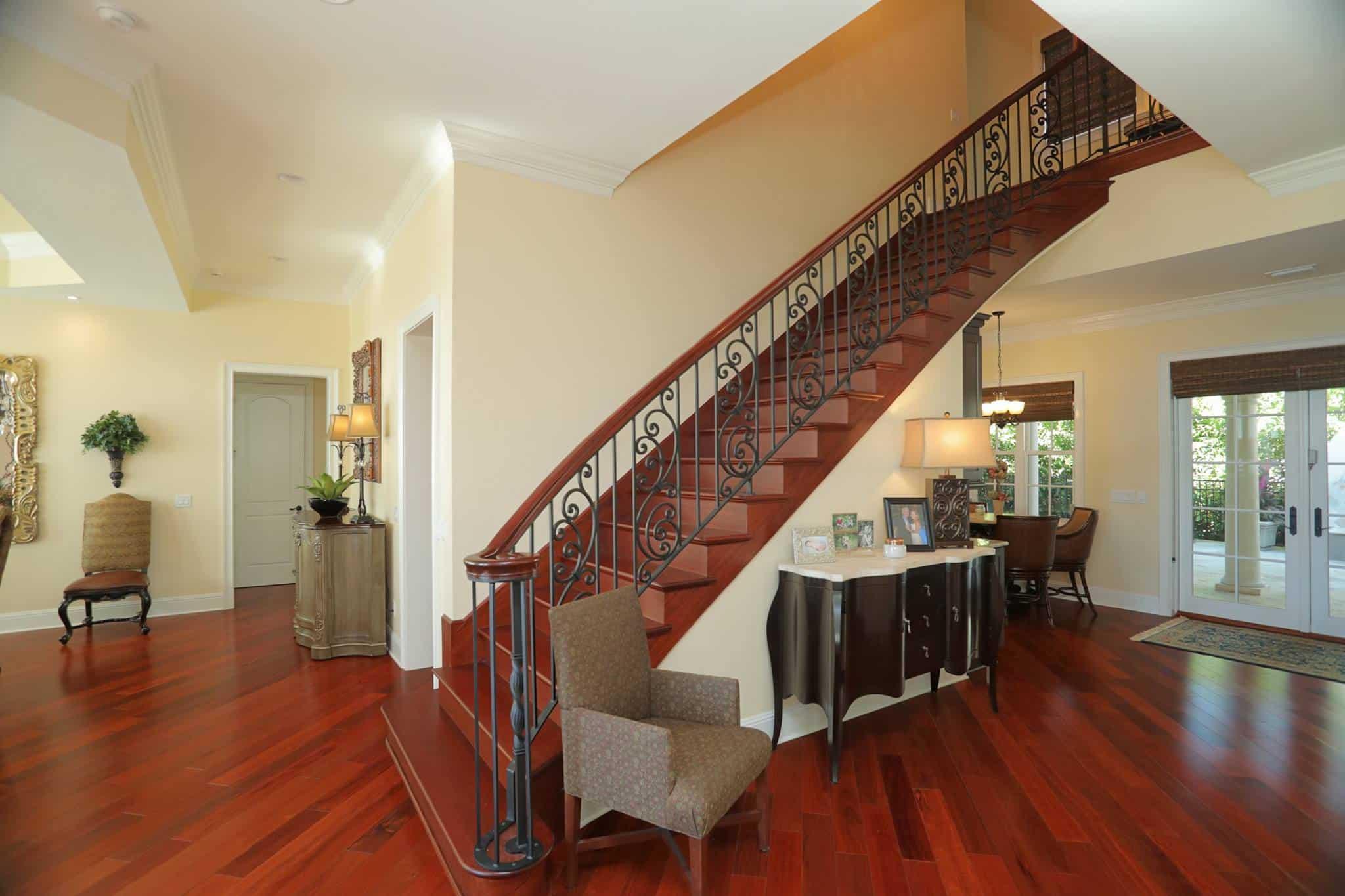 Bayshore Beautiful custom home staircase