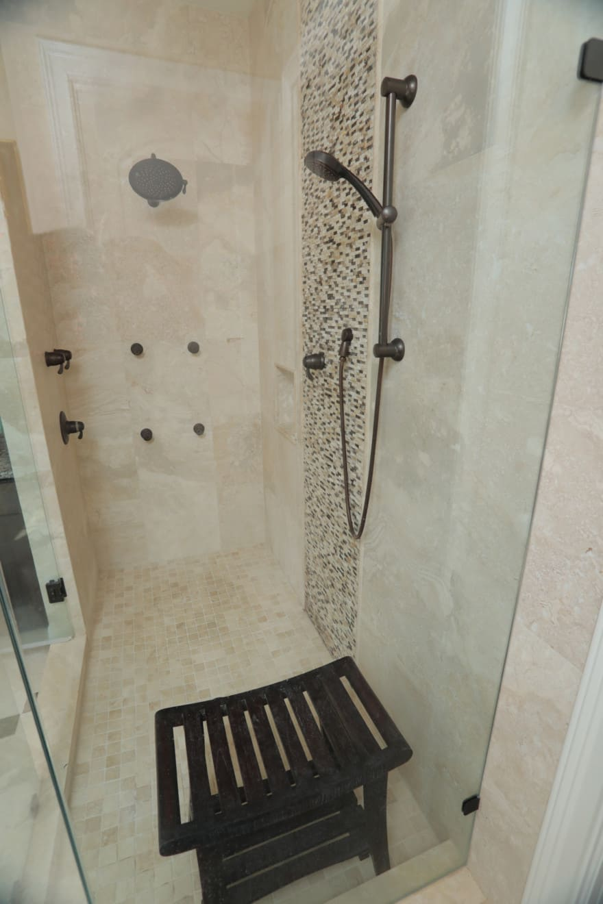 Bayshore Beauty shower by Devonshire Custom Homes