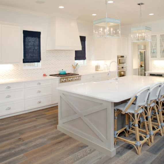 Parkland Estates Coastal Contemporary - Kitchen and breakfast area | Devonshire Custom Homes