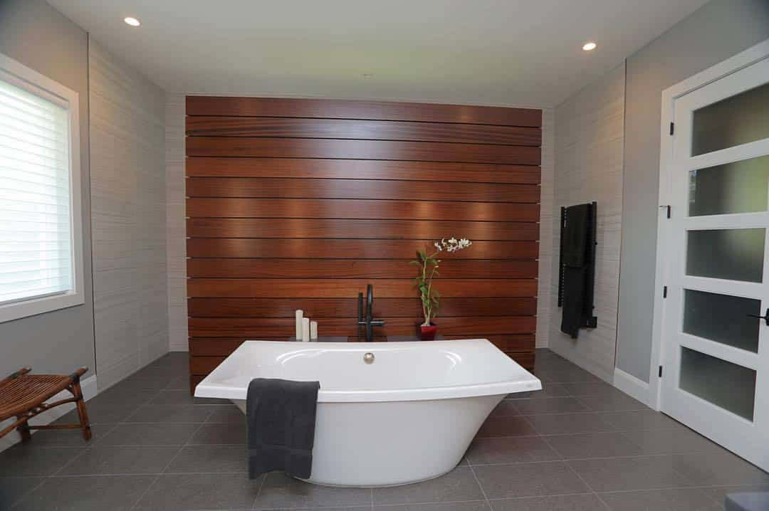 Snell Isle freestanding bathtub from Devonshire Custom Homes